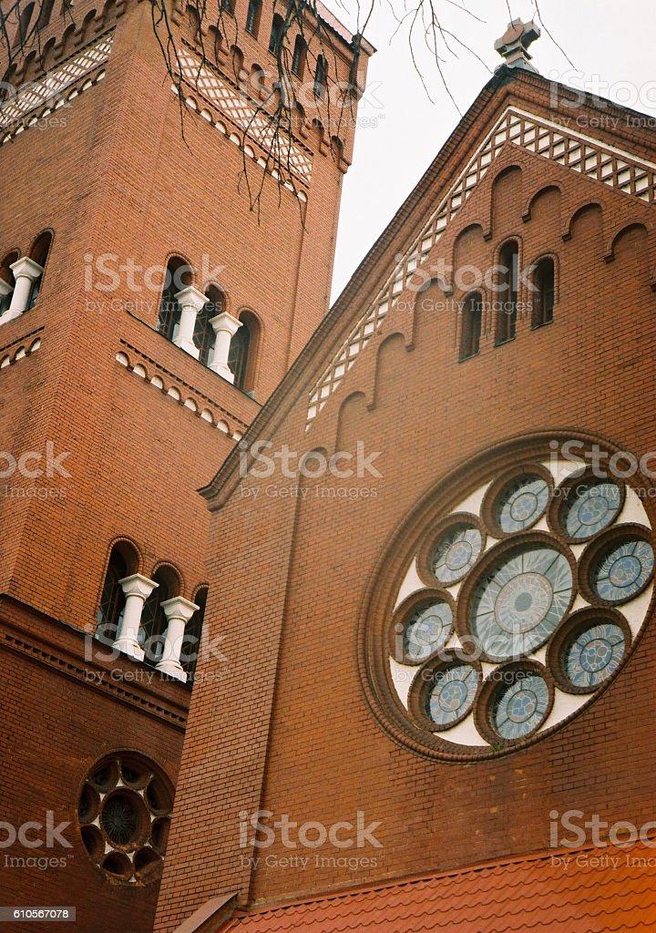 Church of Saints Simon and Helena in Minsk stock photo