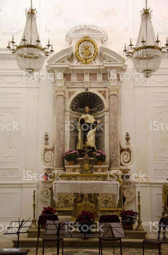 Church of Samugheo stock photo