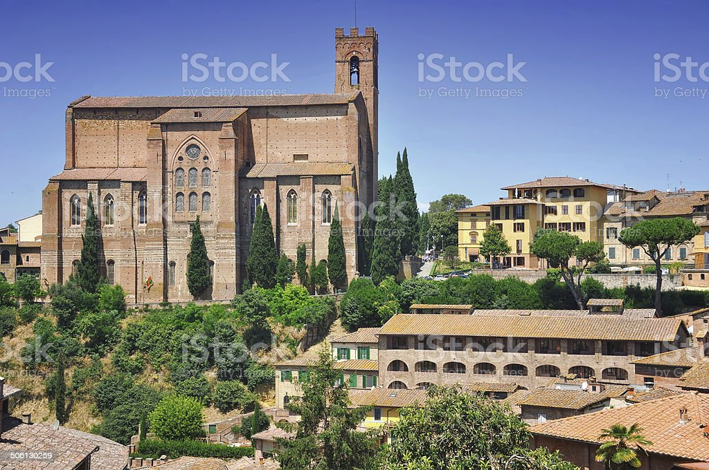 Church of San Domenico in Siena stock photo