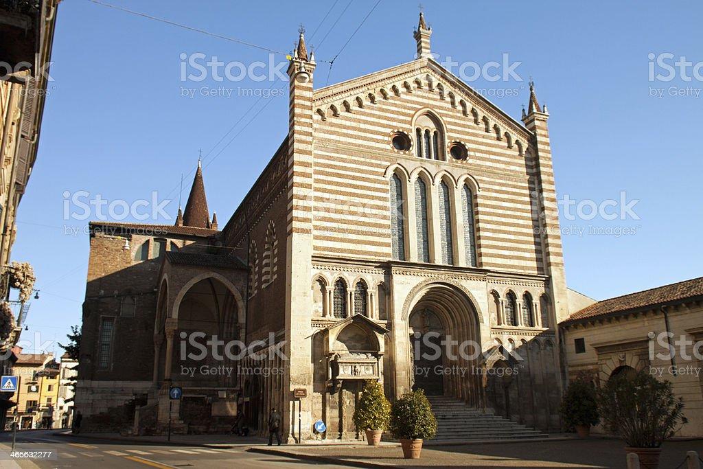 Church of San Fermo Maggiore, Verona, Veneto Italy stock photo