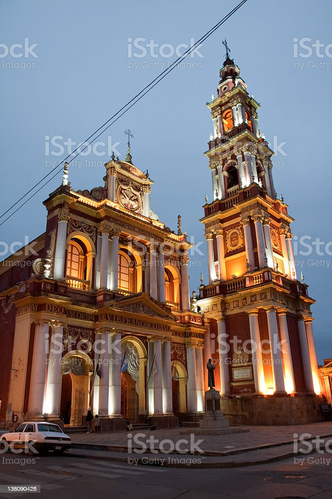 Church of San Francisco in Salta, Argentina stock photo