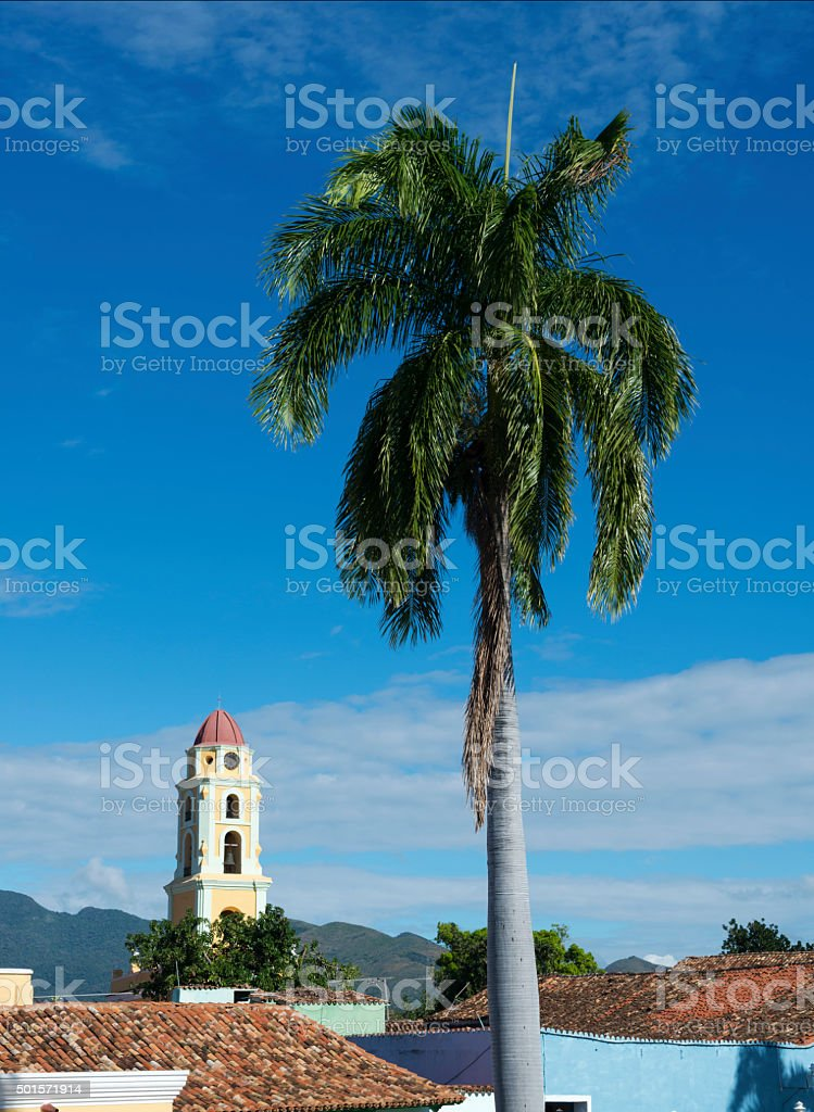 Church of San Francisco in Trinidad, Cuba stock photo