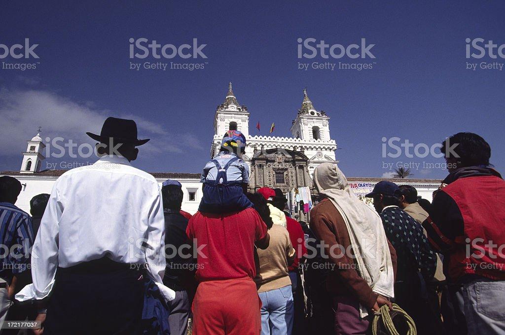 Church of San Francisco, Quito, Ecuador stock photo