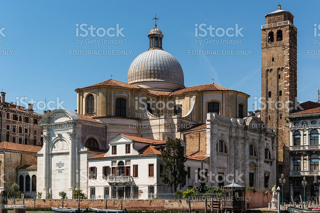 Church of San Geremia In Venice Italy. stock photo