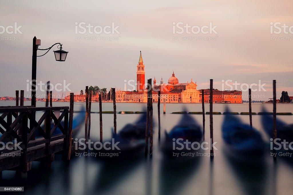 Church of San Giorgio Maggiore at sunset stock photo