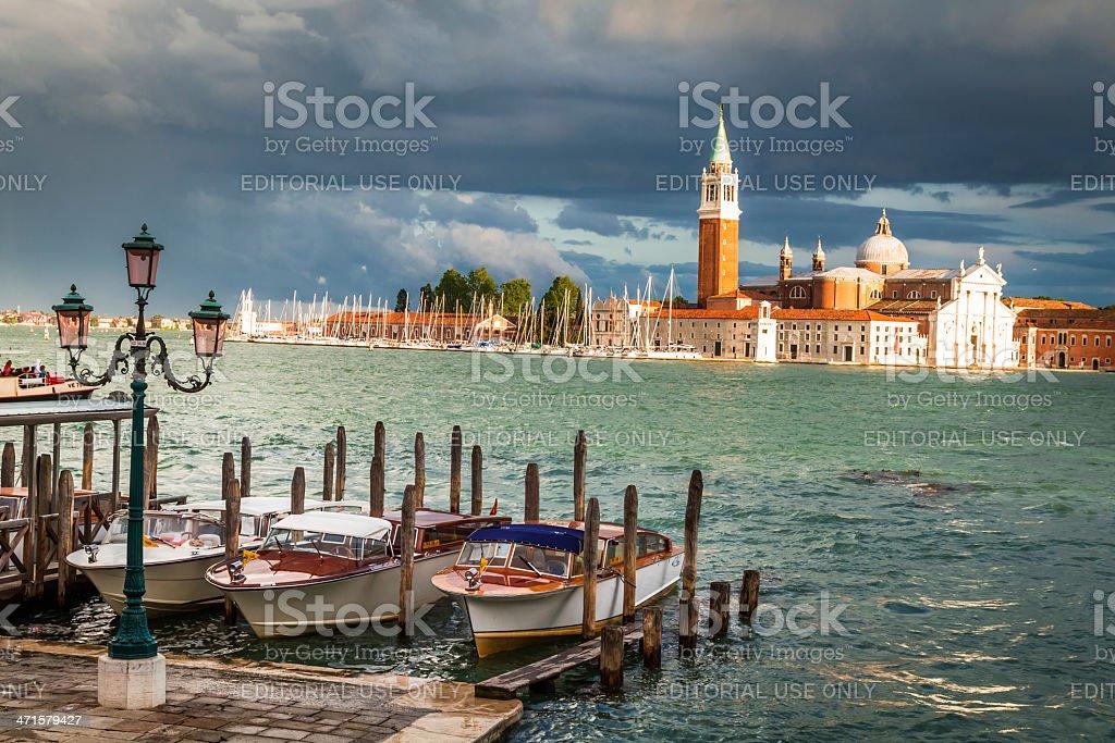 Church of San Giorgio Maggiore in Venice royalty-free stock photo
