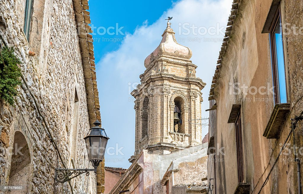 Church of San Giuliano in the town of Erice, Sicily stock photo