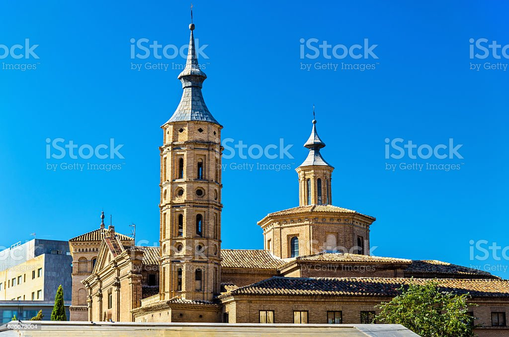 Church of San Juan de los Panetes in Zaragoza., Spain stock photo