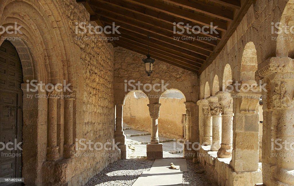 Church of San Miguel Arcangel royalty-free stock photo
