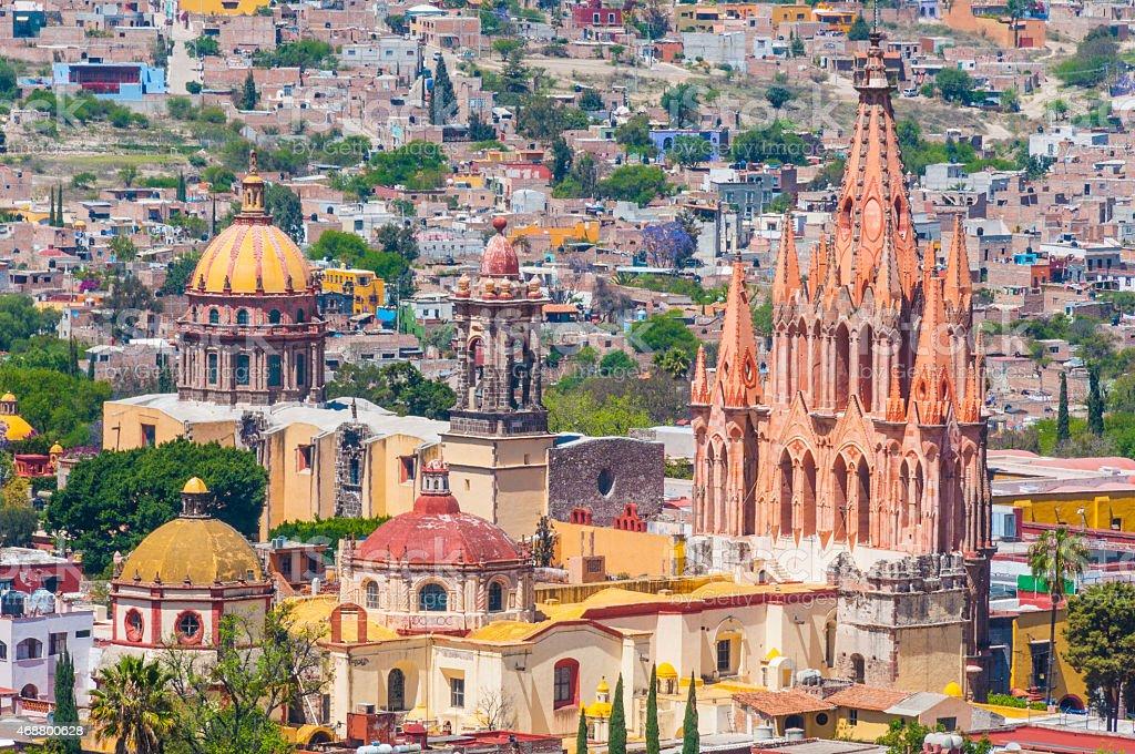 Church of San Miguel Arcangel, San Miguel De Allende (Mexico) stock photo