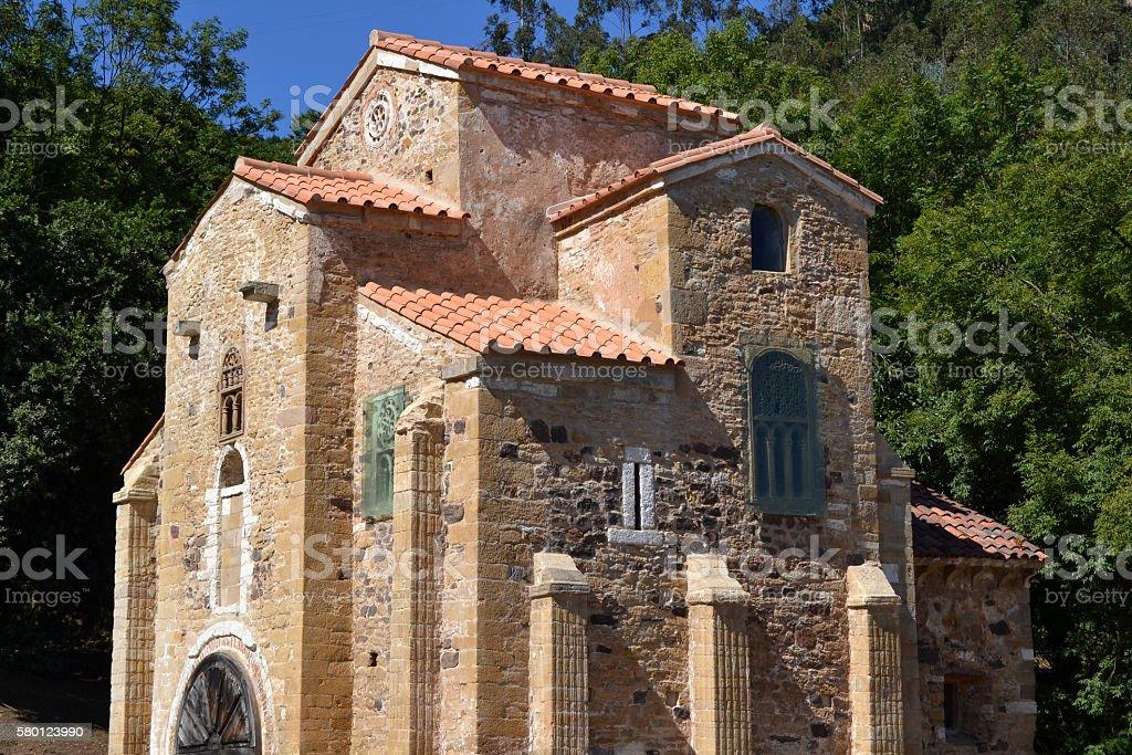 Church of San Miguel de Lillo in Oviedo, Asturias stock photo