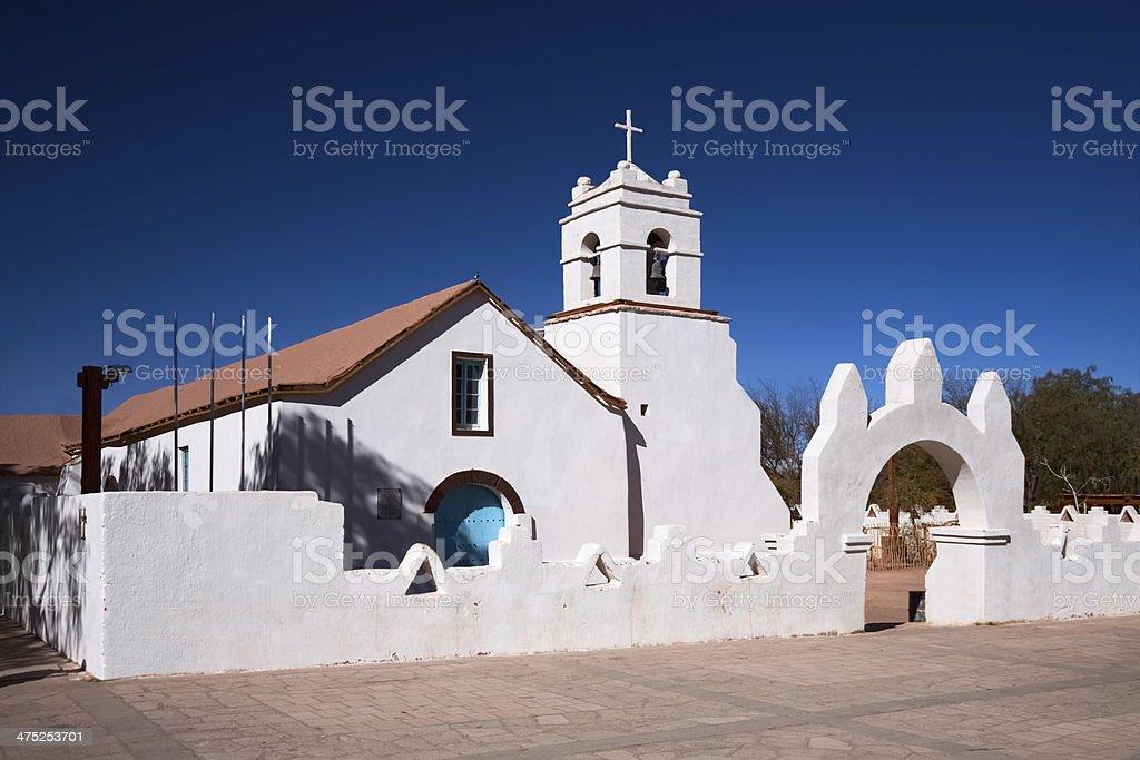 Church of San Pedro de Atacama, Chile stock photo