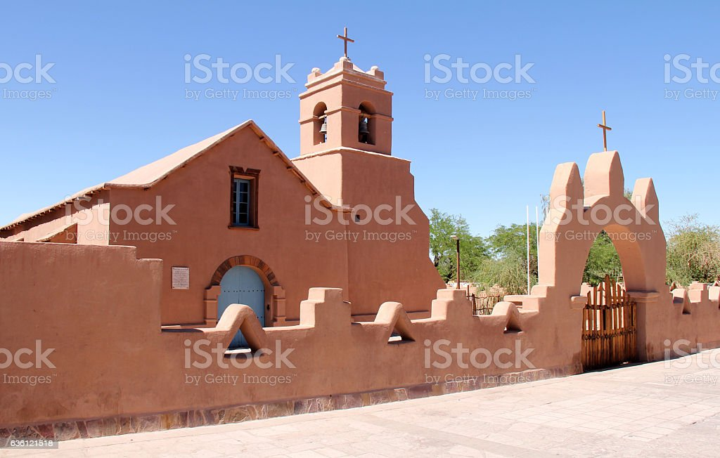 Church of San Pedro de Atacama stock photo