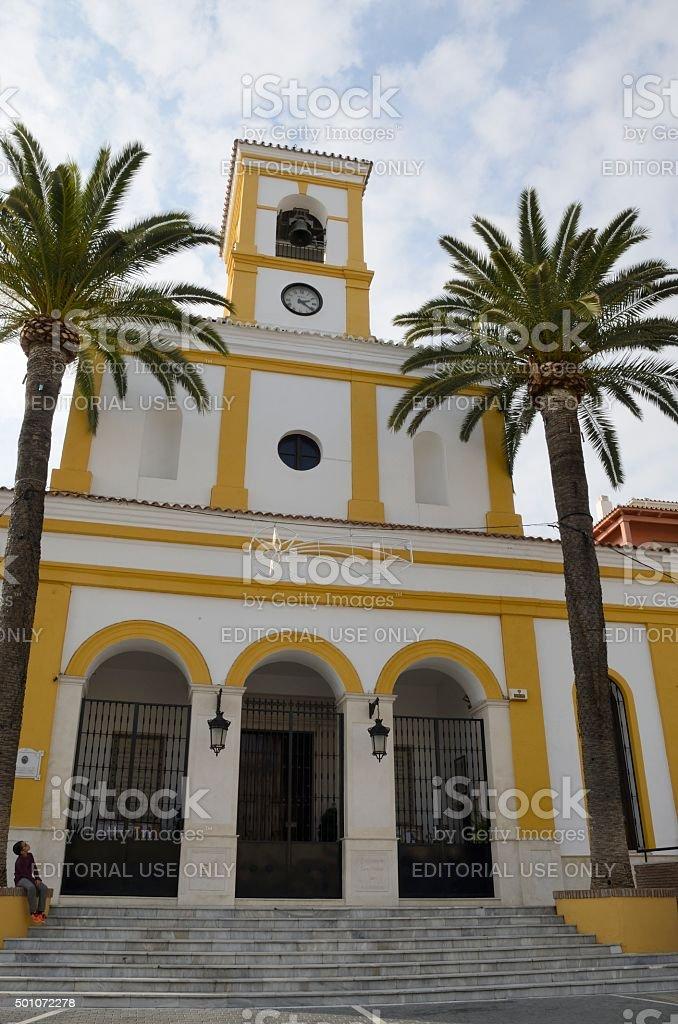 Church of San Peter stock photo
