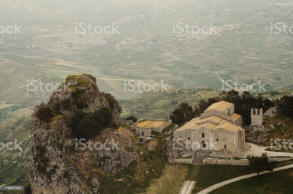 Church of San Salvatore in Caltabellotta (Sicily, Italy) royalty-free stock photo