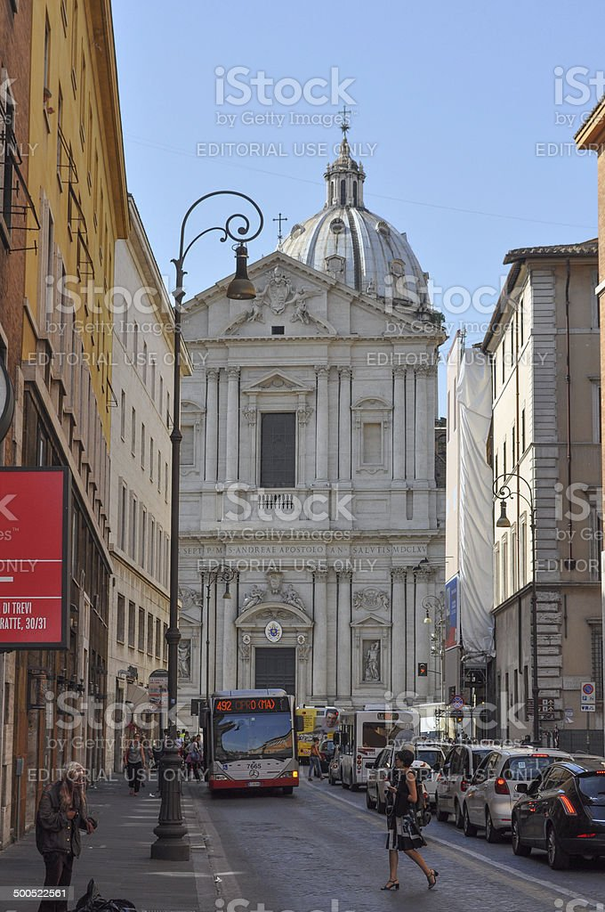 Church of Sant Andre in Rome royalty-free stock photo
