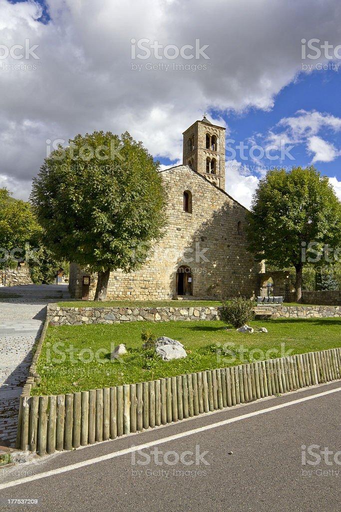 Church of Sant Climent de Taüll stock photo