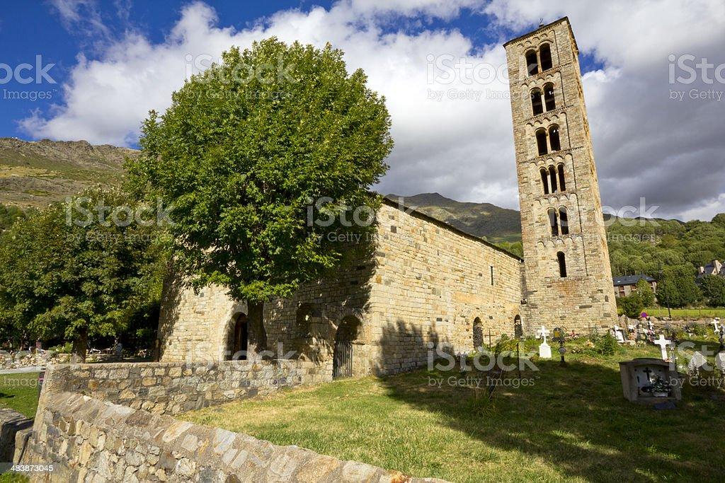 Church of Sant Climent de Ta?ll stock photo