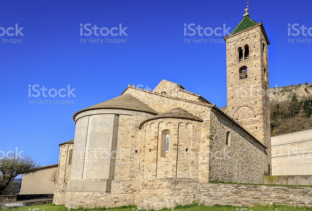 church of Sant Vicent de Malla stock photo