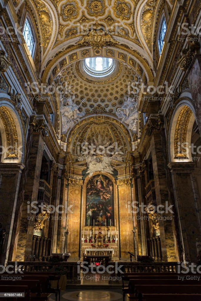 Church of Santa Agnese in Agone in Rome, Italy stock photo