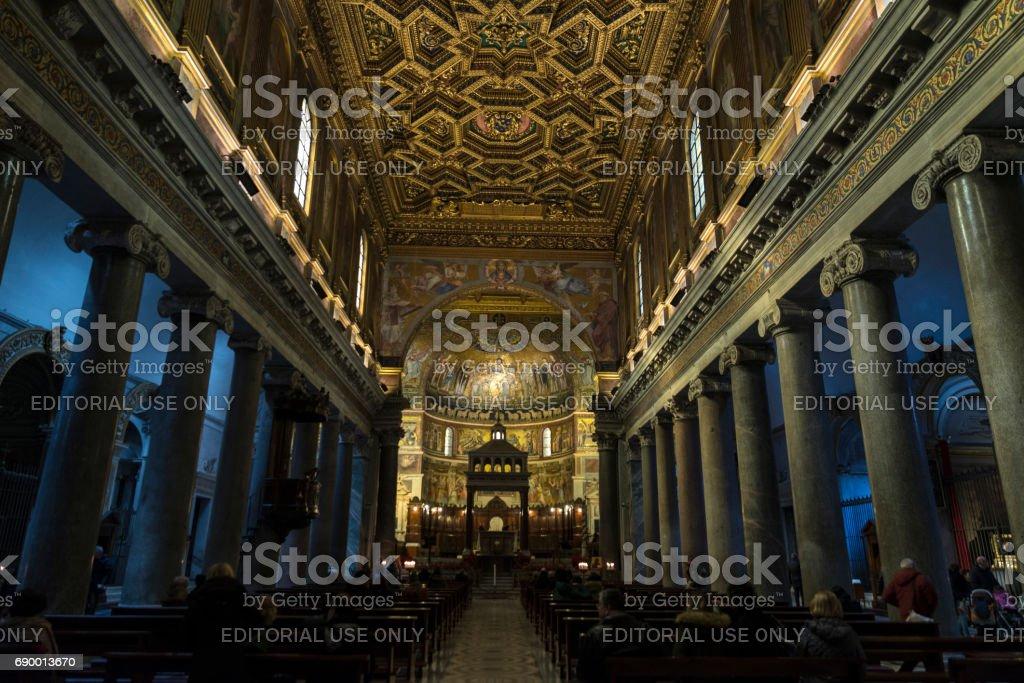 Church of Santa Cecilia in Trastevere, Rome, Italy. stock photo