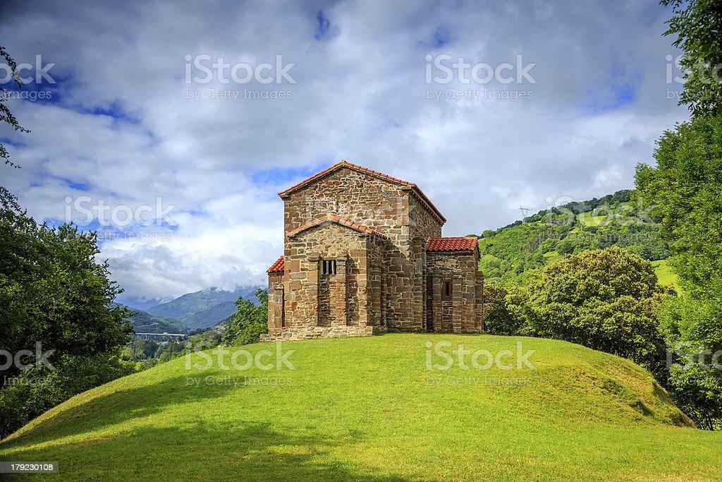 Church of Santa Cristina de Lena Oviedo stock photo