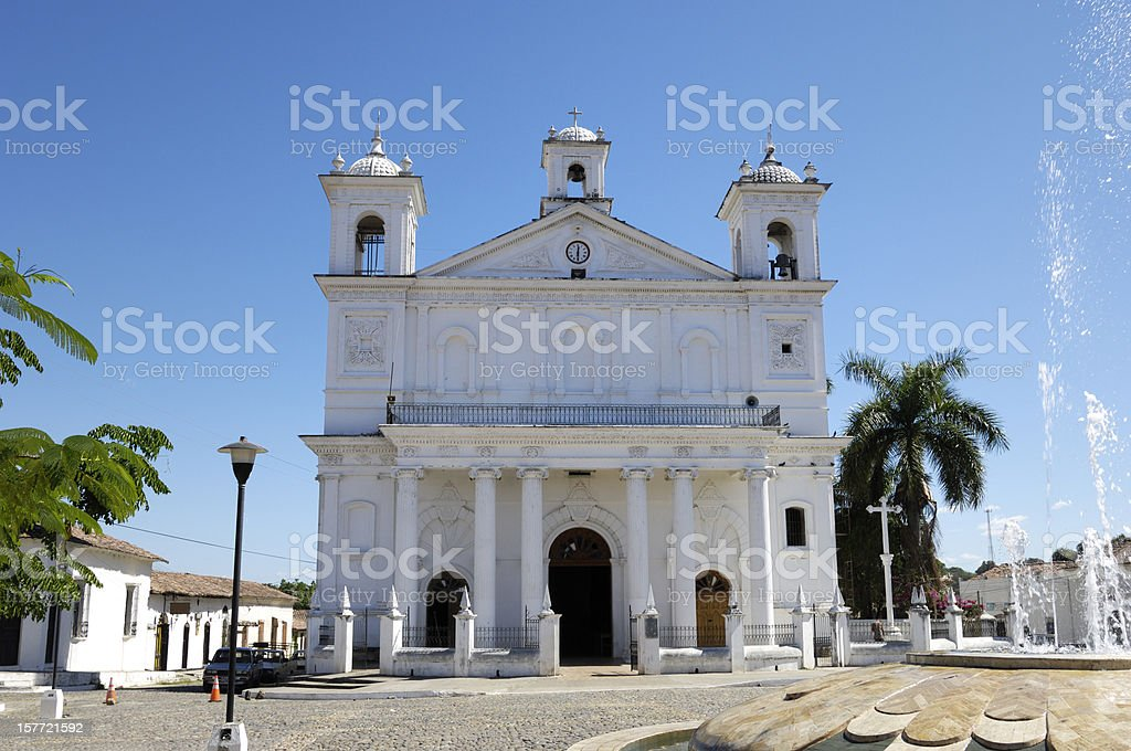 Church of Santa Lucia in El Salvador stock photo