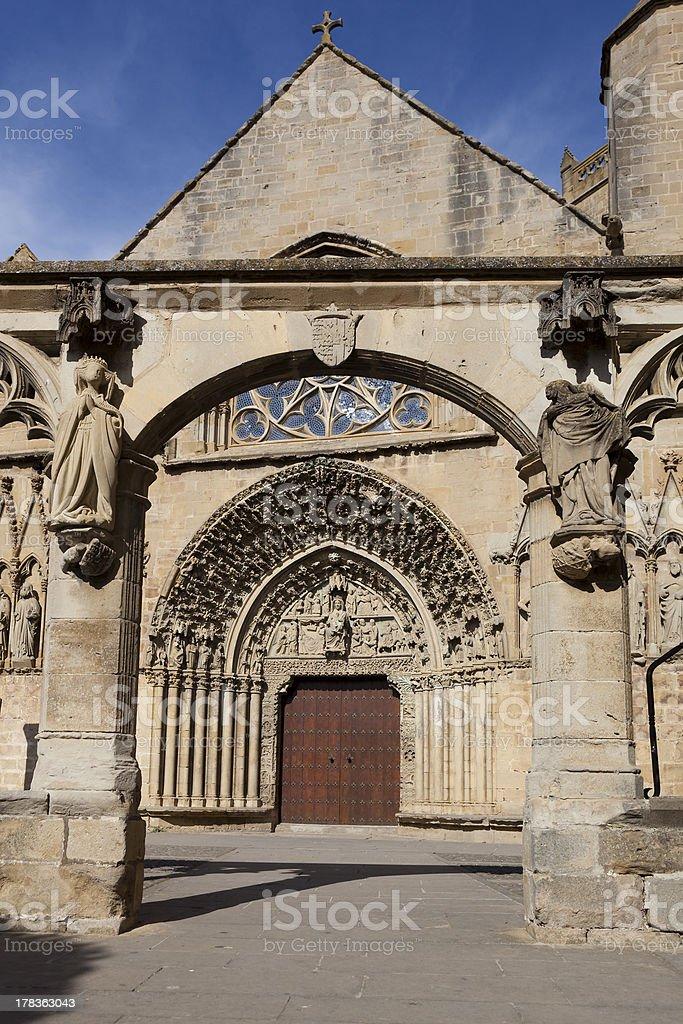 Church of Santa Maria de Olite royalty-free stock photo
