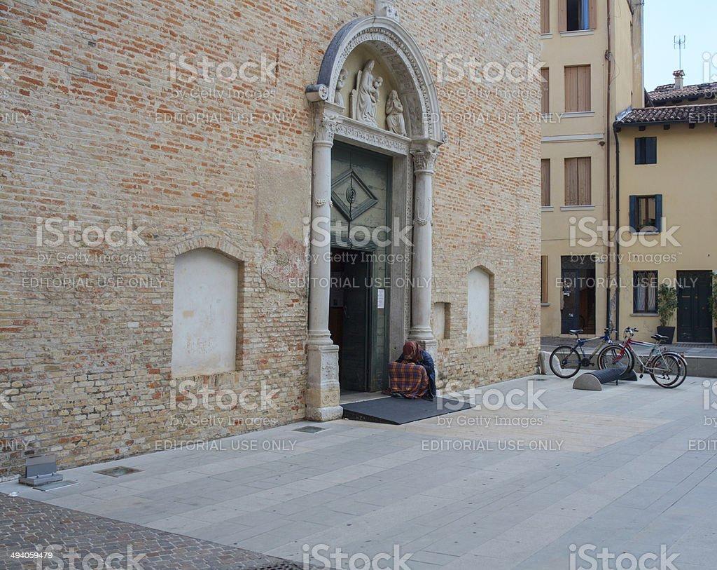 Church of Santa Maria degli Angeli, Pordenone stock photo