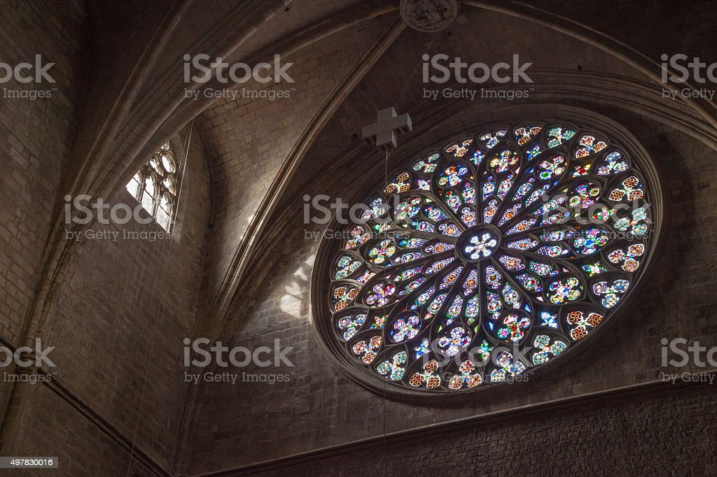 Church of Santa Maria del Pi. Barcelona (Spain) stock photo