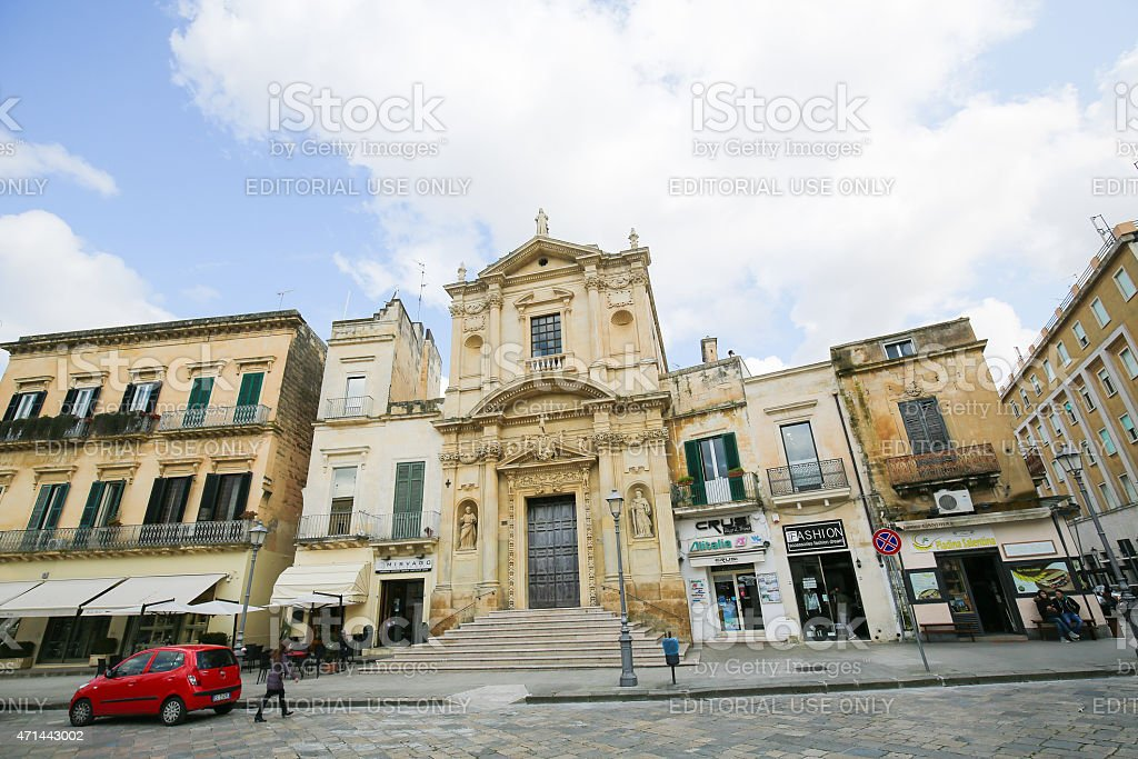Church of Santa Maria della Grazia in Lecce, Puglia, Italy stock photo