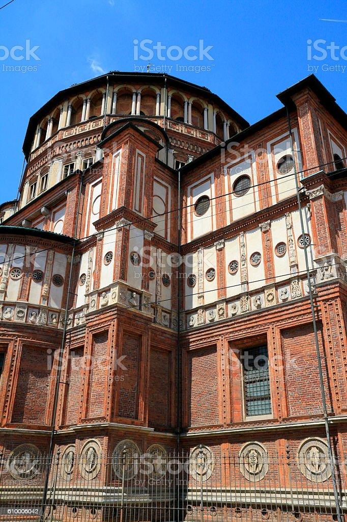 Church of Santa Maria delle Grazie, Milan, Italy stock photo