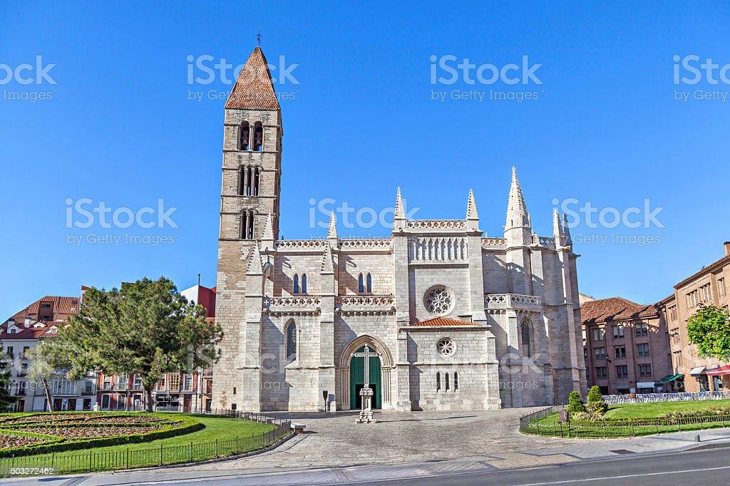 Church of Santa Maria La Antigua in Valladolid stock photo