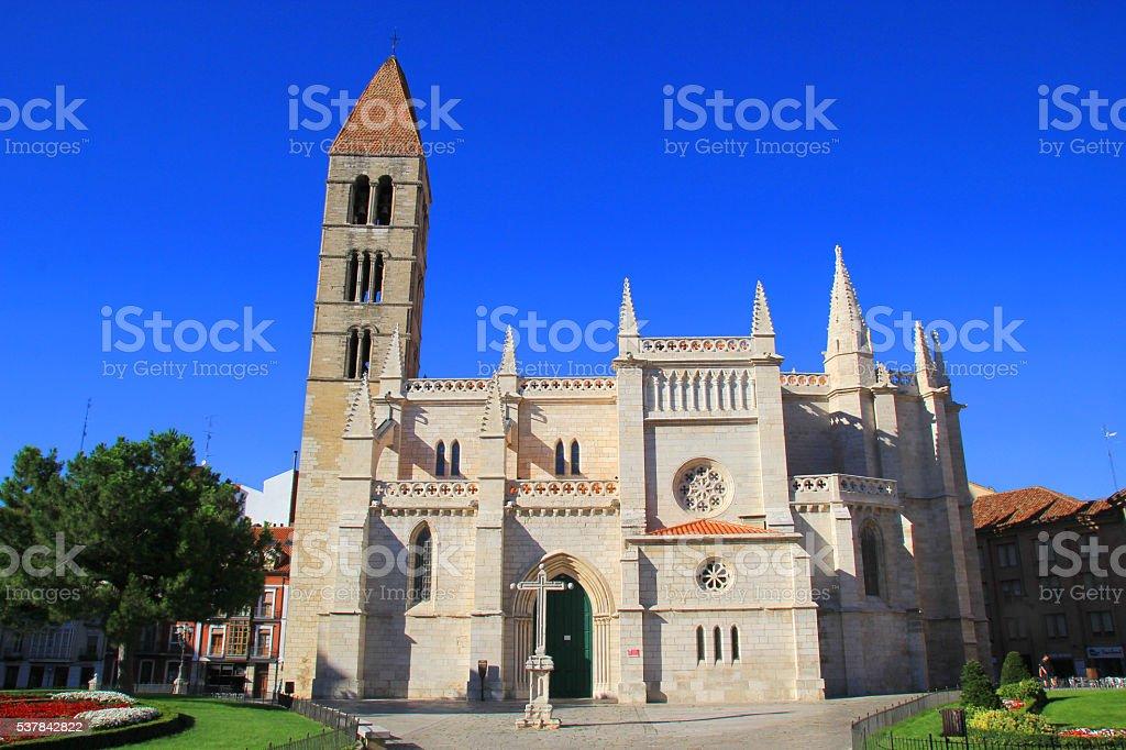 Church of Santa Maria La Antigua in Valladolid. stock photo