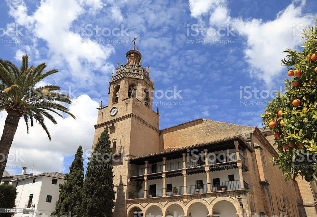 Church of Santa Maria la Mayor in Ronda, Andalucia stock photo