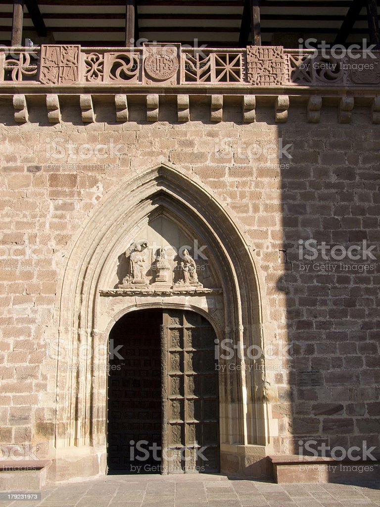 Church of Santa Maria Maggiore. Excaray. La Rioja. Spain. stock photo