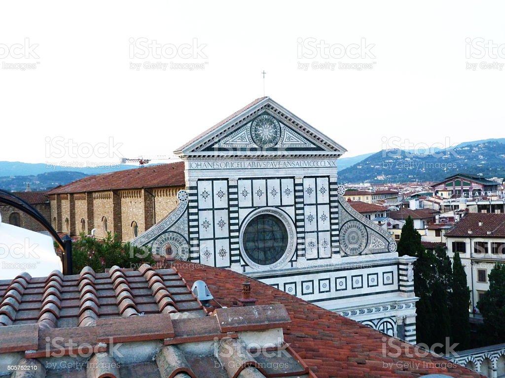 Church of Santa Maria Novellafrom the roof, Florence, Italy stock photo