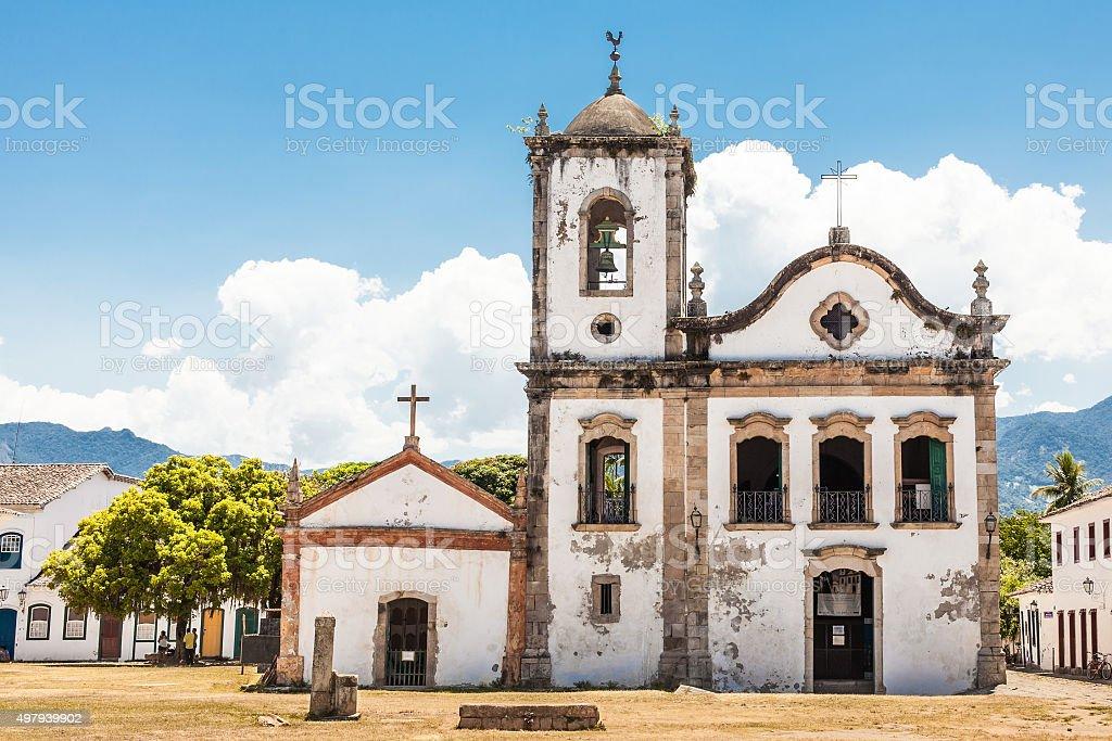 Church of Santa Rita - Paraty - RJ - Brazil stock photo