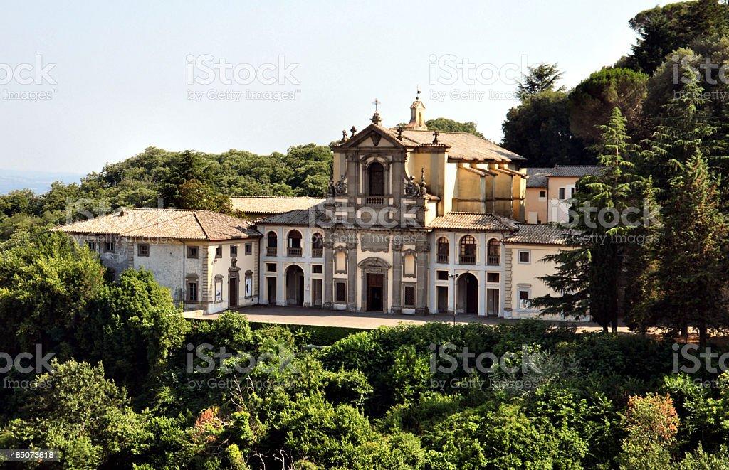 Church of Santa Teresa in Caprarola, Italy stock photo