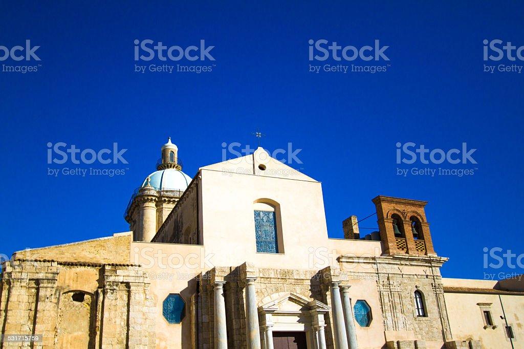 Church of Sant'Angelo in Licata, Sicily stock photo