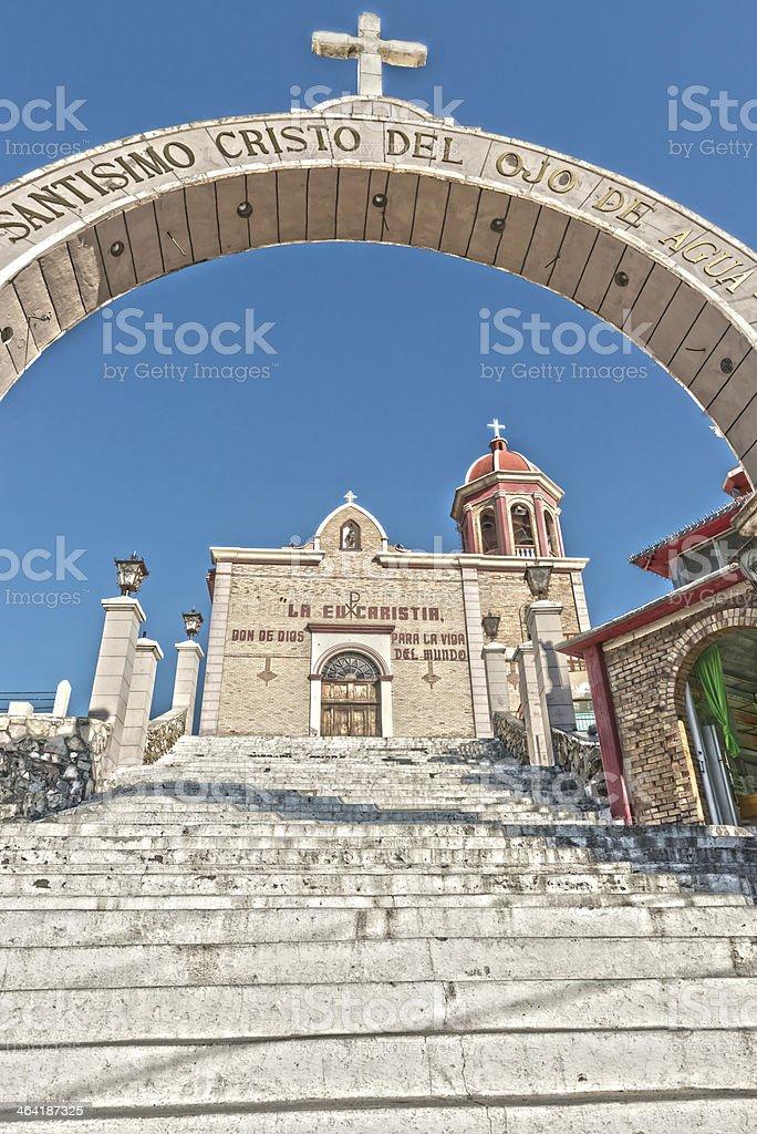 church of Santo Cristo del Ojo de Agua in Saltillo stock photo