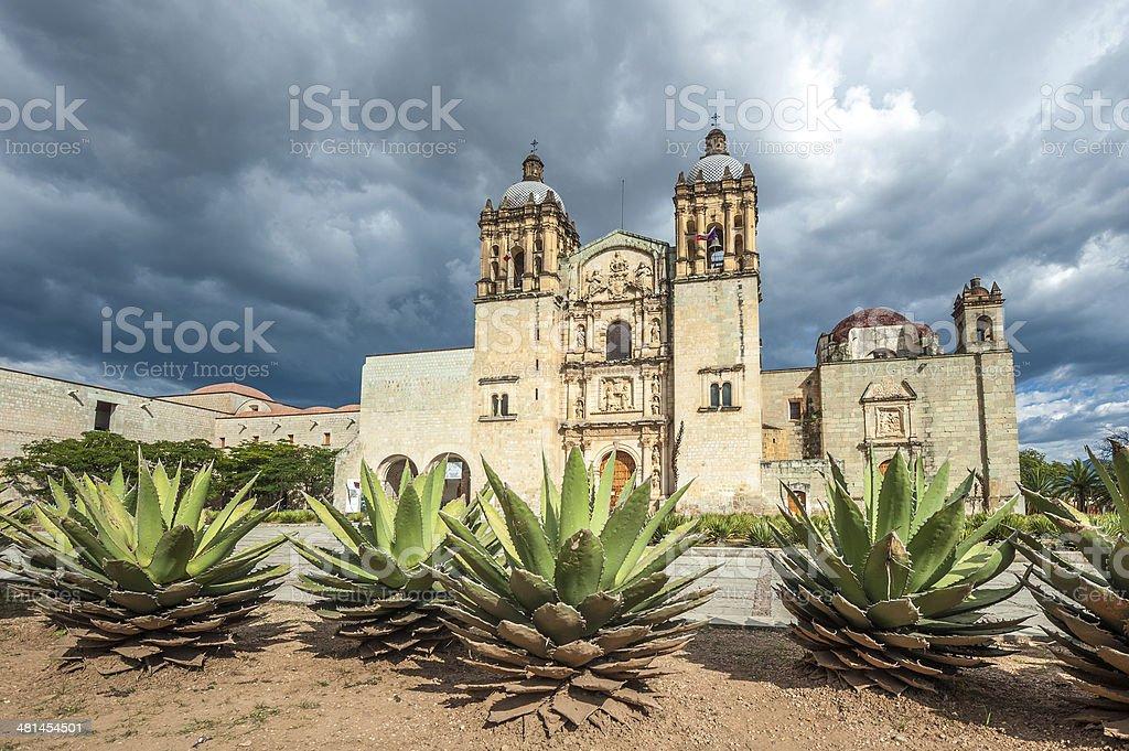 Church of Santo Domingo de Guzman in Oaxaca, Mexico royalty-free stock photo