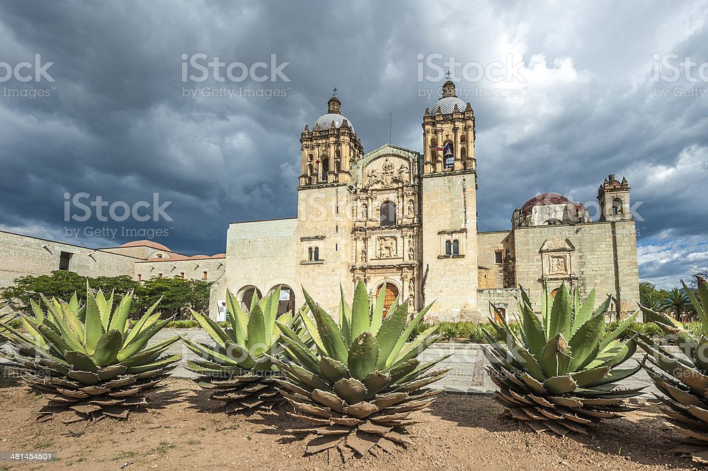 Church of Santo Domingo de Guzman in Oaxaca, Mexico stock photo