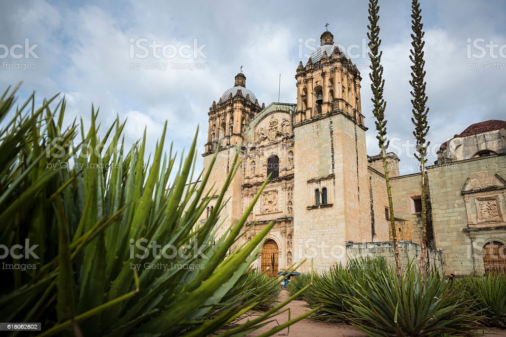 Church of Santo Domingo de Guzmán in Oaxaca, Mexico stock photo