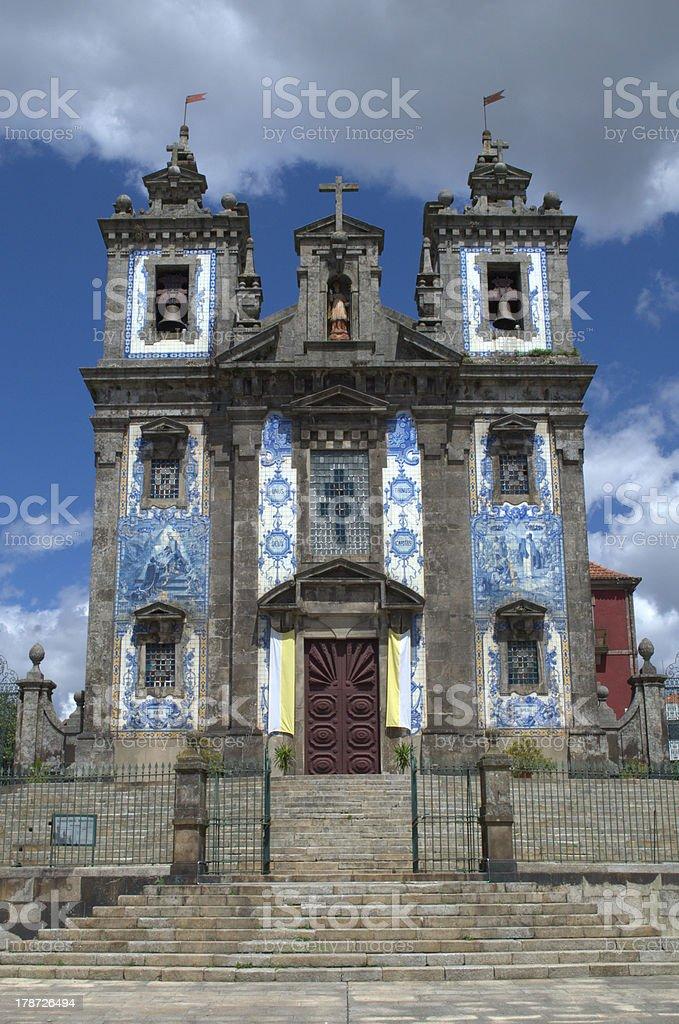 Church of Santo Ildefonso in Porto, Portugal royalty-free stock photo