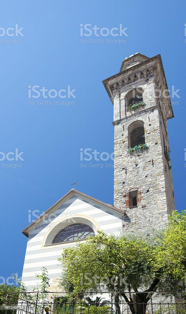 Church of Santo Stefano (XI century), Rapallo, Italy stock photo