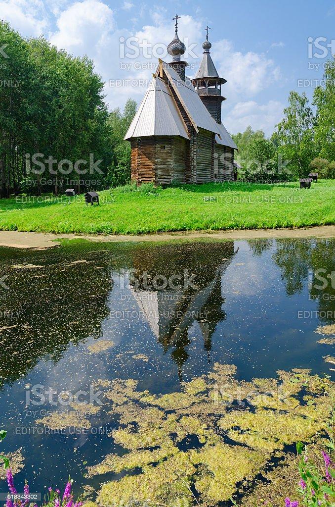 Church of Savior from village Fominskoe, Kostroma, Russia stock photo