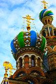 Church of Savior on Spilled Blood gold cupolas, St. Petersburg