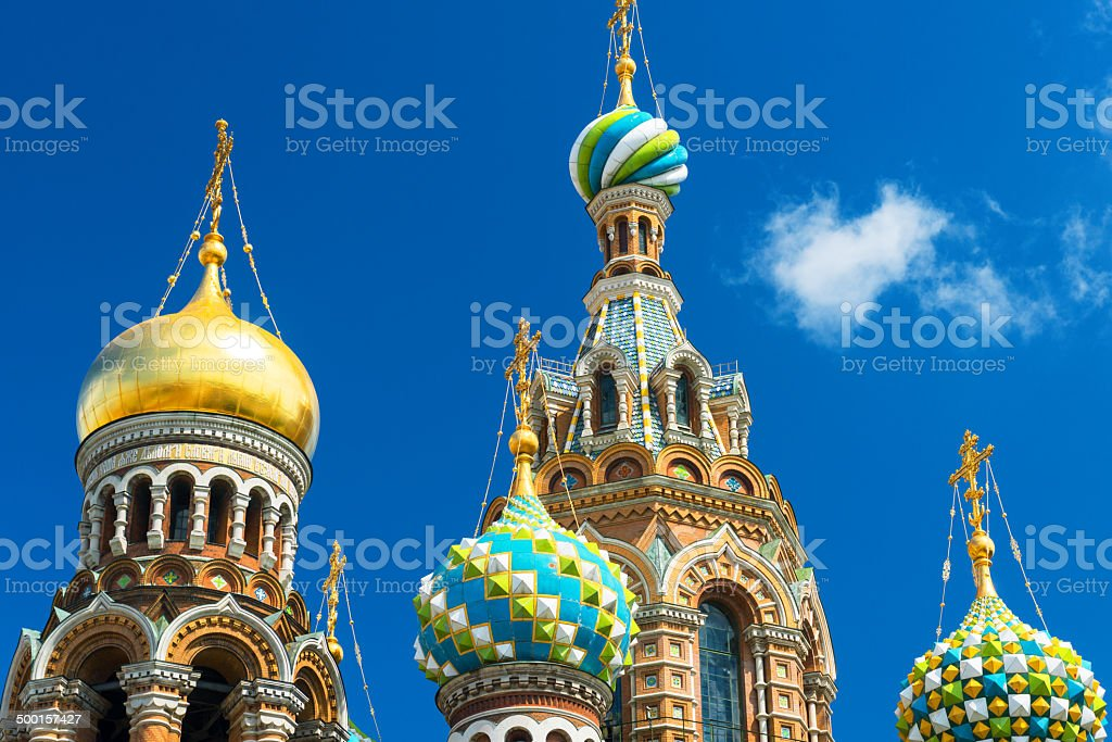 Church of Savior on Spilled Blood in Saint Petersburg, Russia stock photo