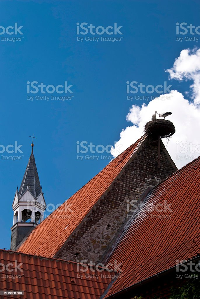 Church of Schwabstedt, Germany stock photo